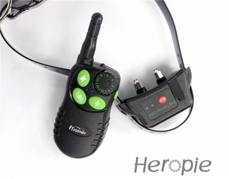 Heropie Newest Pet dog trainer Dog Training Collar Rechargeable and Waterproof Remote 500m Dog Shock electronic Collar control