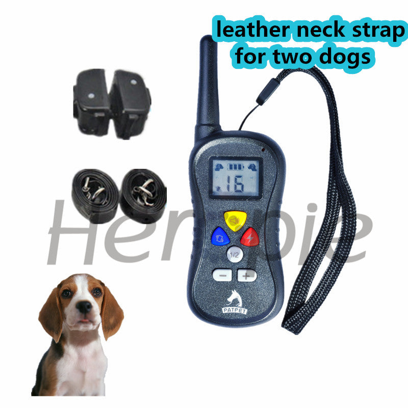 Heropie Newest Pet dog trainer  Rechargeable and Waterproof Dog Training Collar Remote Shock electronic control Collar
