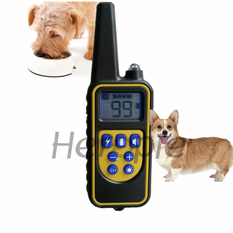 Heropie Newest Pet dog trainer  Waterproof and Rechargeable Dog Training Collar Remote Shock electronic control Collar