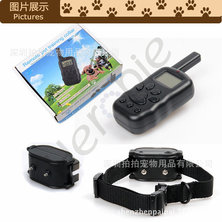 Heropie Pet Dog Training Collar Rechargeable 100LV 300M Remote Shock Vibrate Bark Stop Collar For 2 Dog