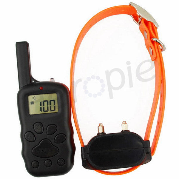 Heropie Rechargeable Waterproof Shock Vibra Remote Control LCD Electric Pet Dog Training Collar Electric Dog Trainning Collar