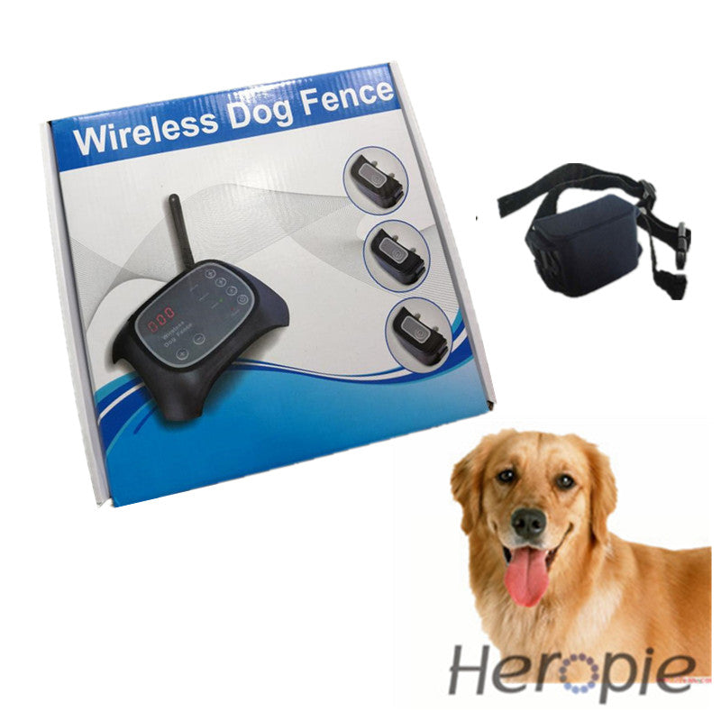Heropie upgrade Remote Pet Dog Training collar Dog Trainer wireless electronic fence waterproof Rechargeable  Dog control