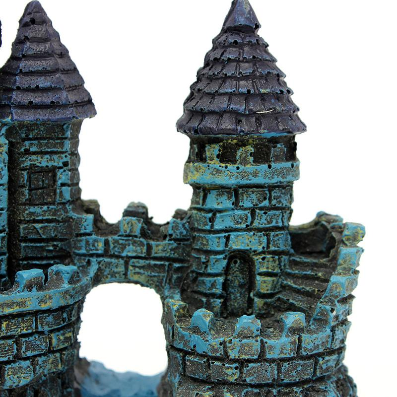 High quality simulation vintage castle tower aquariums for Tower fish tank