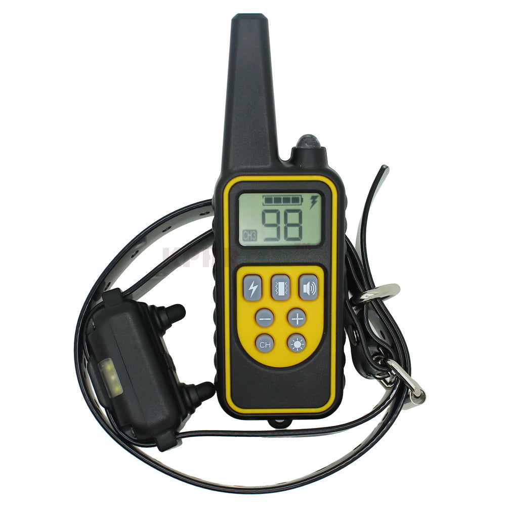 High-end 800 meters Remote Dog Training Collar Rechargeable and waterproof KPHRTEK KP-DT01 Shock Vibration 99 Level