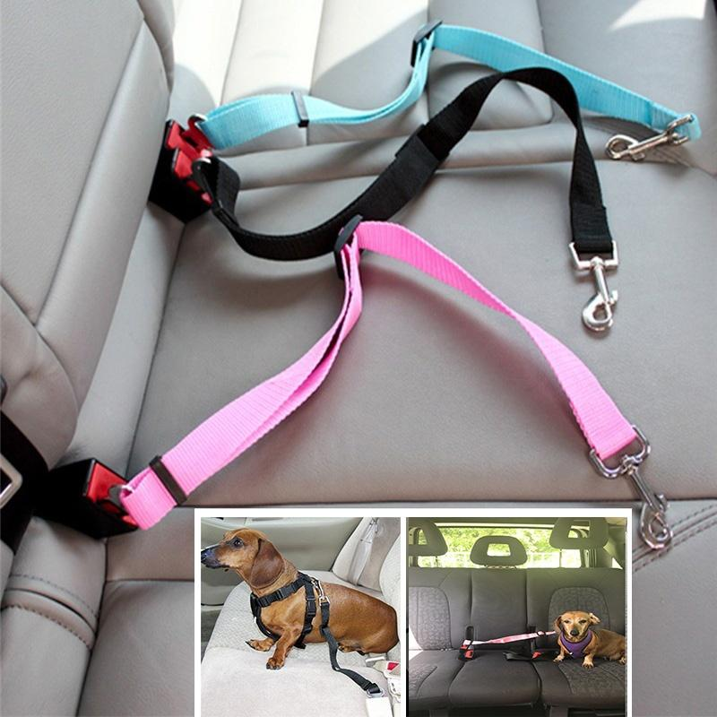 hot dog pet car safety seat belt harness restraint lead leash travel c vet equipment. Black Bedroom Furniture Sets. Home Design Ideas