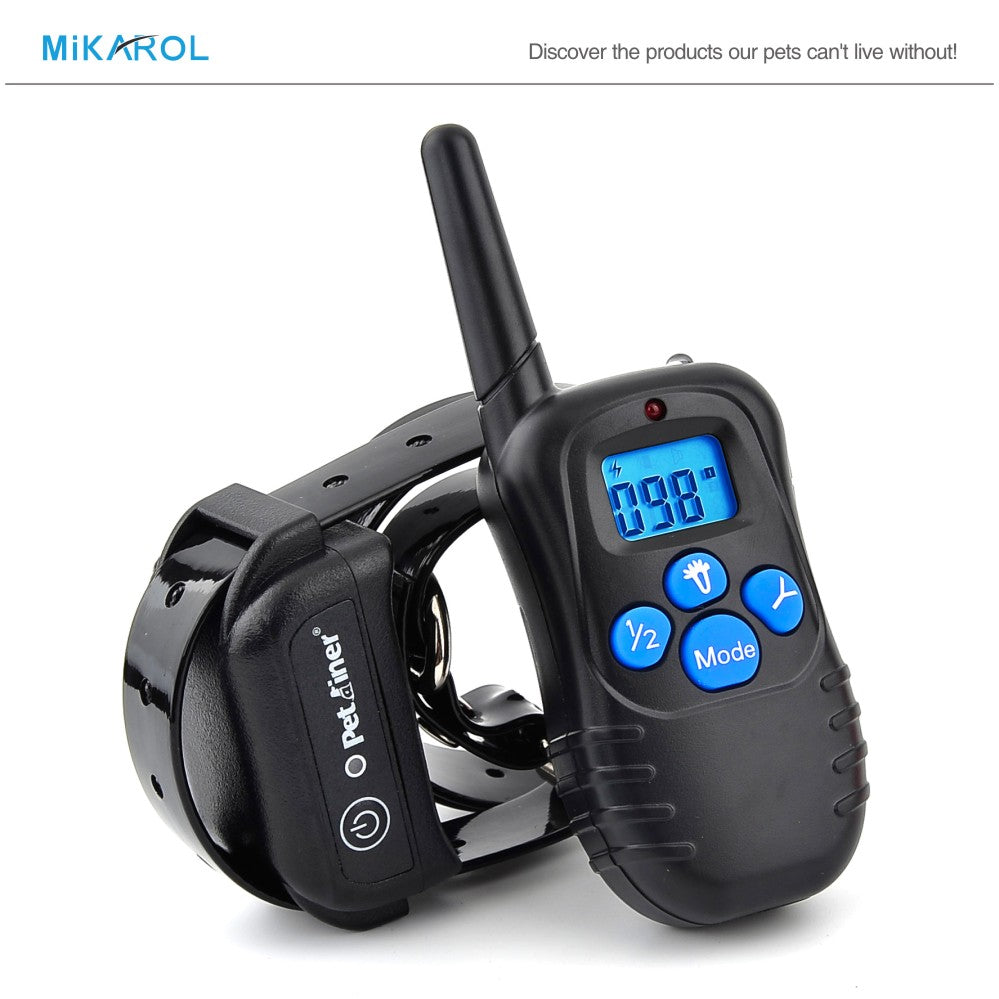 Hot Sale NEW 988DB 300M LCD 100LV 300 Yard Level Electric Shock Vibration Remote Anti Bark Pet Dog Training Collar