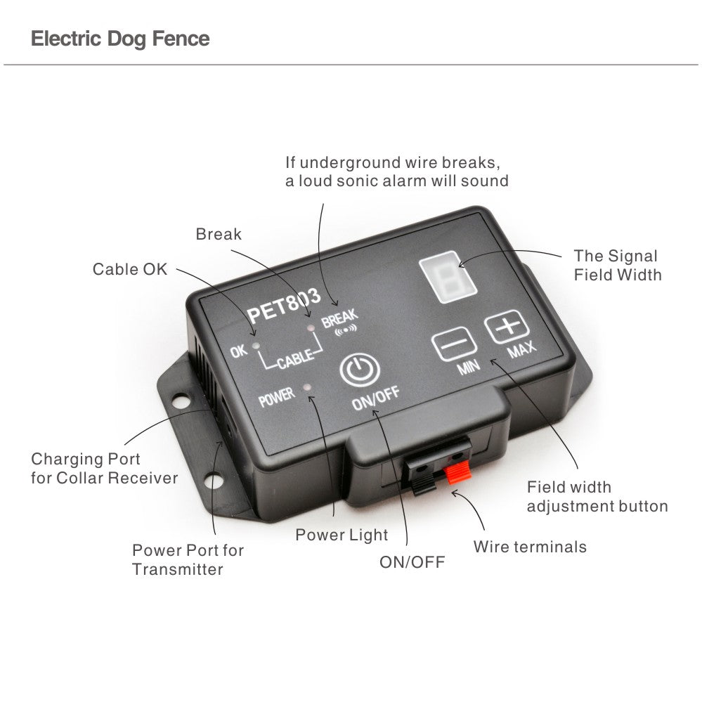 Hot Waterproof Electric Dog Fence Electronic Pet Fencing Training System Runaway Dog Suitable for Medium / Large Dogs Invisible Pet Fence
