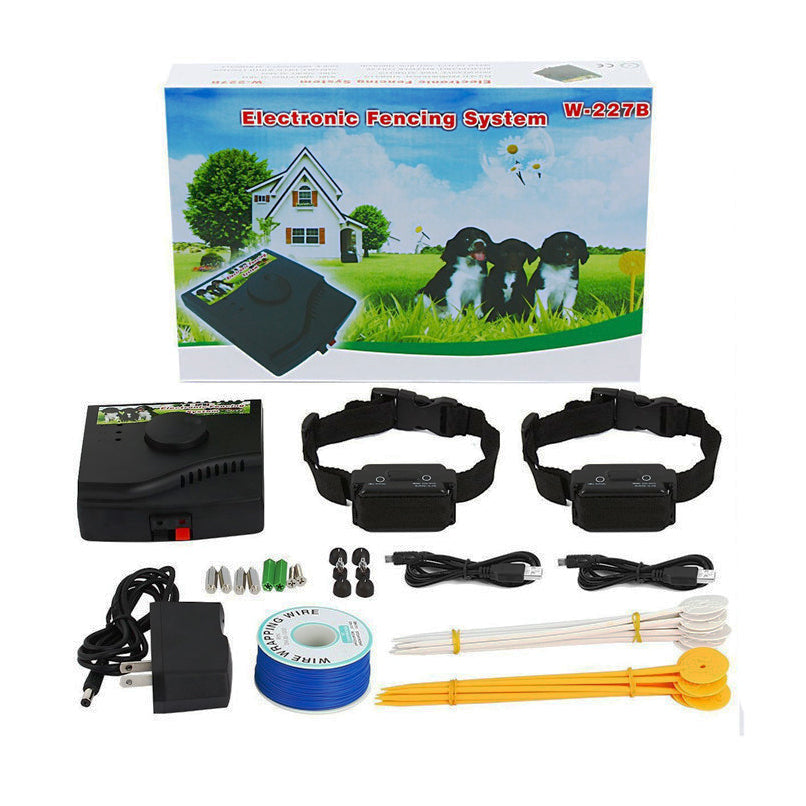 IN-GROUND Waterproof Electronic Dog Fencing System W-227B Rechargeable and Waterproof Receiver Training Collar