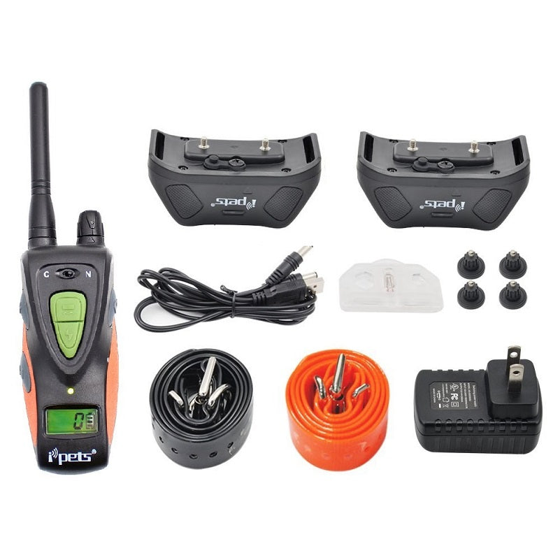 IPETS Waterproof Pet Training System Electric Dog Shocking Collars with Remote Range 800Yards