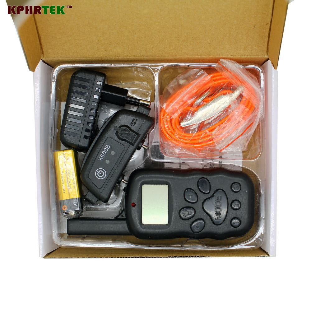 IPX-7 Waterproof Dog Training Collar KP X600B Rechargeable Electronic Pet Dog Trainner Shock Sound Light and Vibration AC