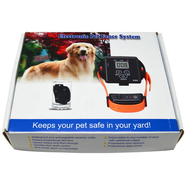 In-Ground Electronic Wireless Remote Pet Dog Fence Containment System Rechargeable and Waterproof Training Collar