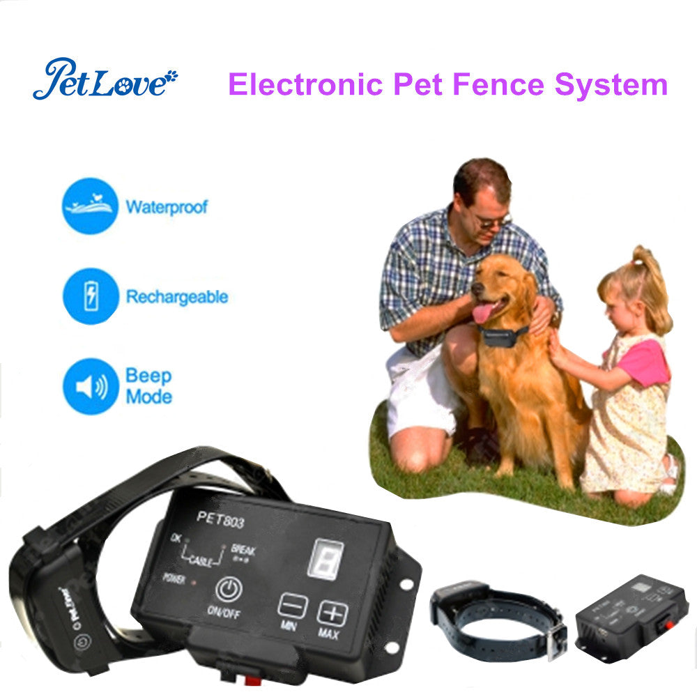 In-Ground Underground Waterproof Pet Dog Train Control Device Collar Shock Training Collar Electric Fencing System