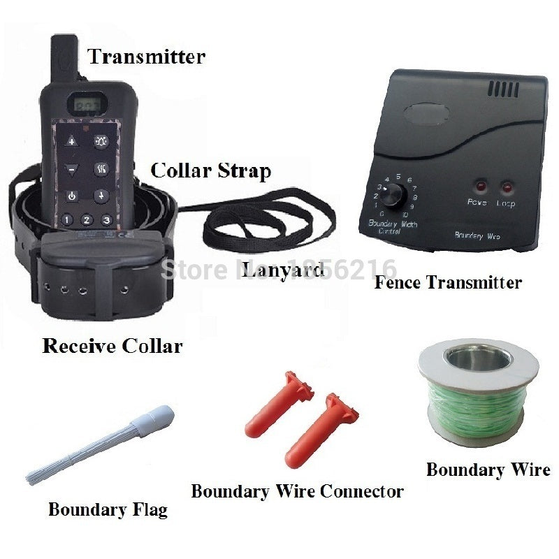 In-ground electric hunting dog fence system + 1200m remote Shocking Dog E-collar Dog training Collar