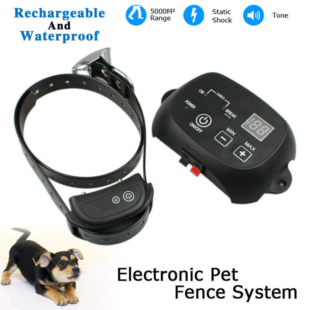 Invisible Electronic Dog Fence System Rechargeable Waterproof Dog Training Collar Wireless In-Ground Fence Containment System