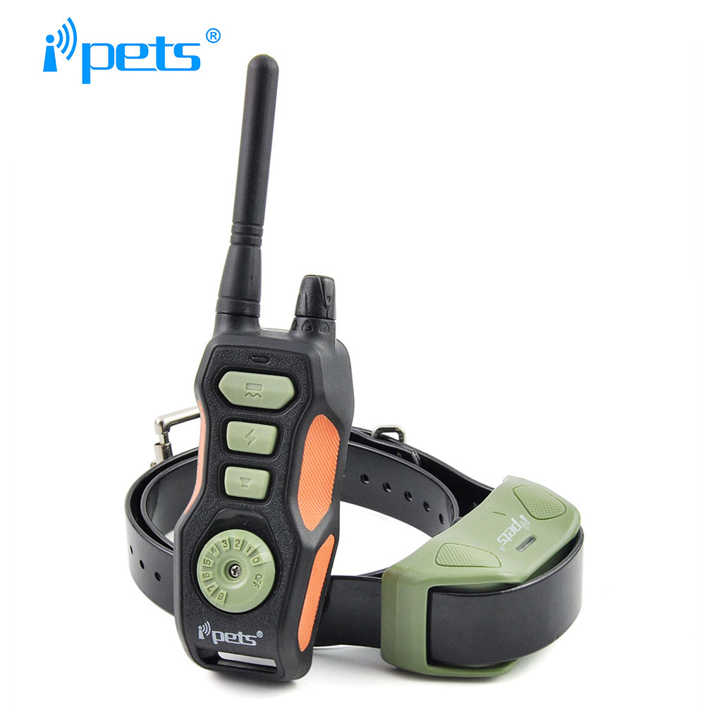 Ipets 618-1 Training Shock Electric Collar with Safe Vibrating Rechargeable and Waterproof  880 Yards Remote E-collar