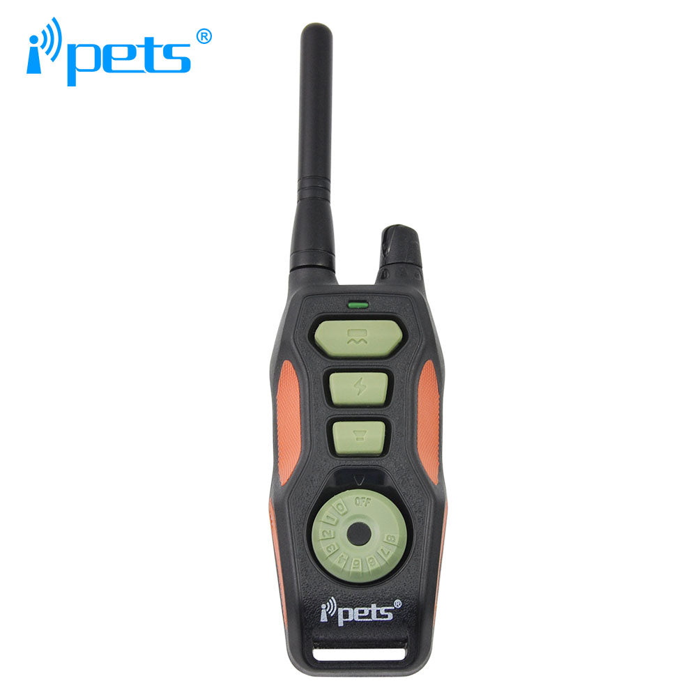 Ipets 618-2 880yards Remote E-collar Rechargeable and Waterproof Training Shock Electric Collar  with Safe Vibrating for 2 dogs