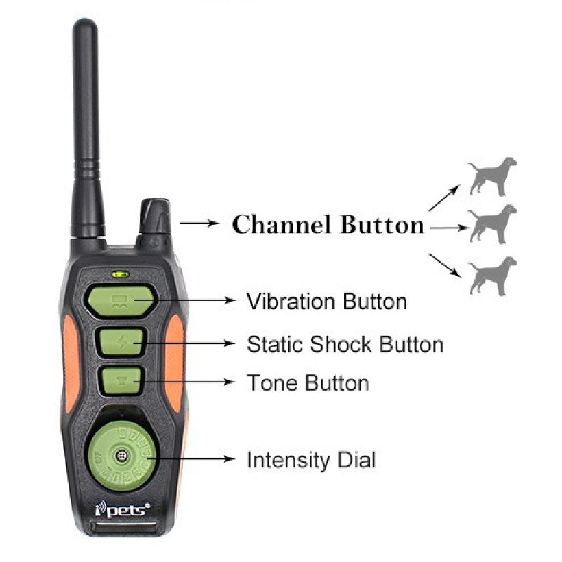 Ipets 618 Dog Shock Collar 2 Dogs Training Collars with Remote Range 800 Yards and shock, vibration, Beep function