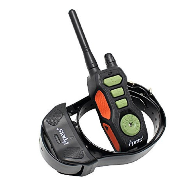 Ipets 618 Waterproof Dog Training Collar with Remote Range 800 Yards and shock, vibration, Beep function