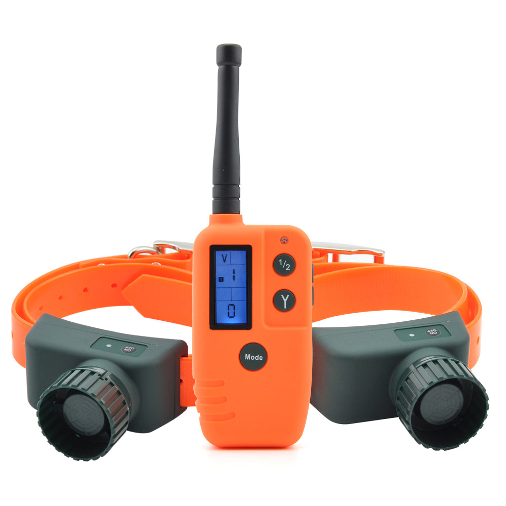 Ipets 910B-2 500M remote control Rechargeable and Waterproof Beeper Training Collar with Big LCD display