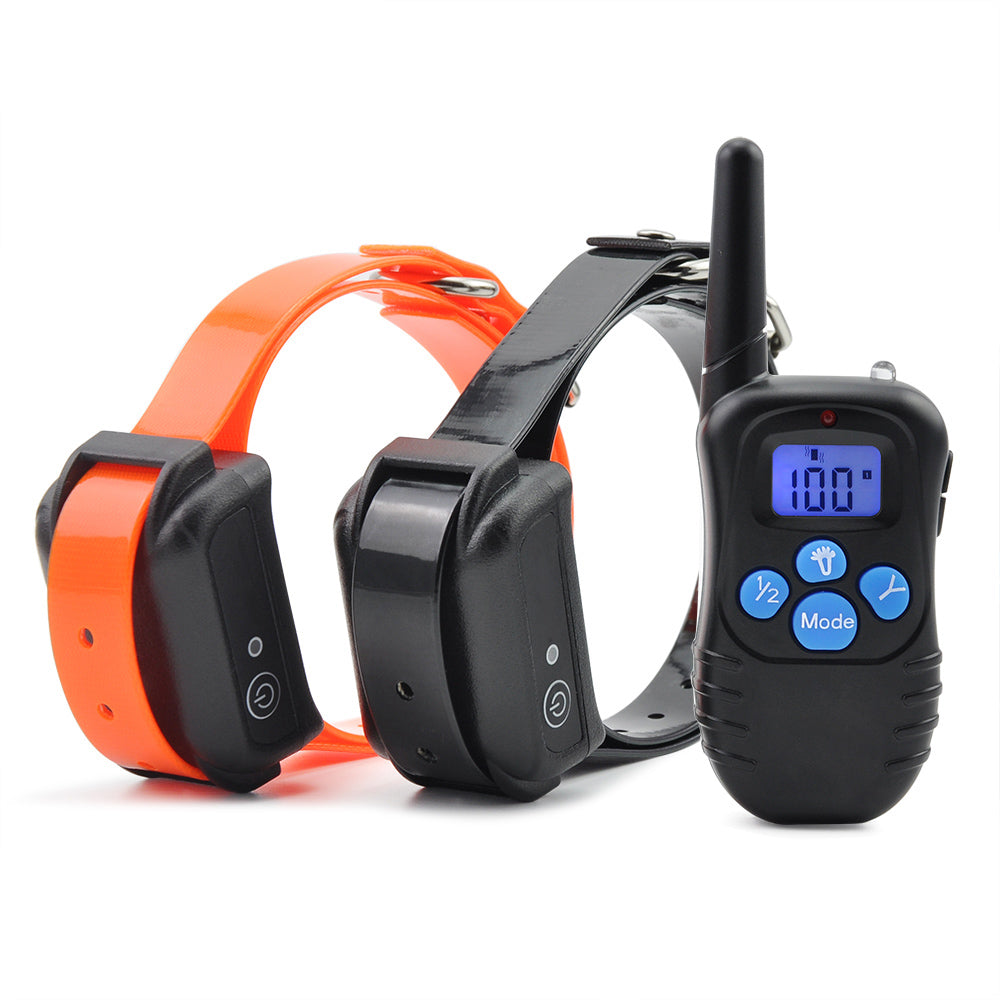 Ipets 998DBB-2 Dog Shock Training Collar 300M Control Waterproof And Rechargeable Dog Electric Collar