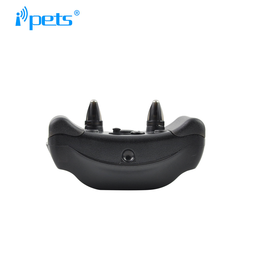 Ipets PET610-2 New Arrived 800M Remote Waterproof And Rechargeable Vibration Electric Shock Training Collar For 2 Dogs