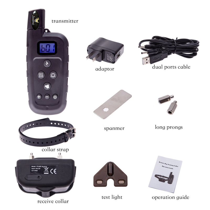 JANPET 600Yards Dog Training Collar Waterproof Remote Dog Shock Collar with Beep, Vibration and Shock Electronic Collar