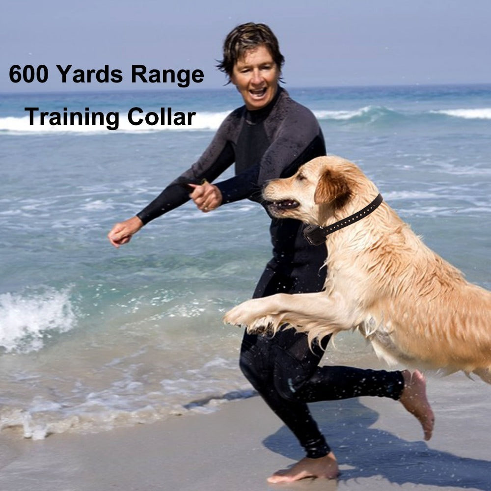 JANPET 600Yards Remote Pet Trainer Dog Training Collars Waterproof Rechargeable with 10 levels shock/ Vibration and beep