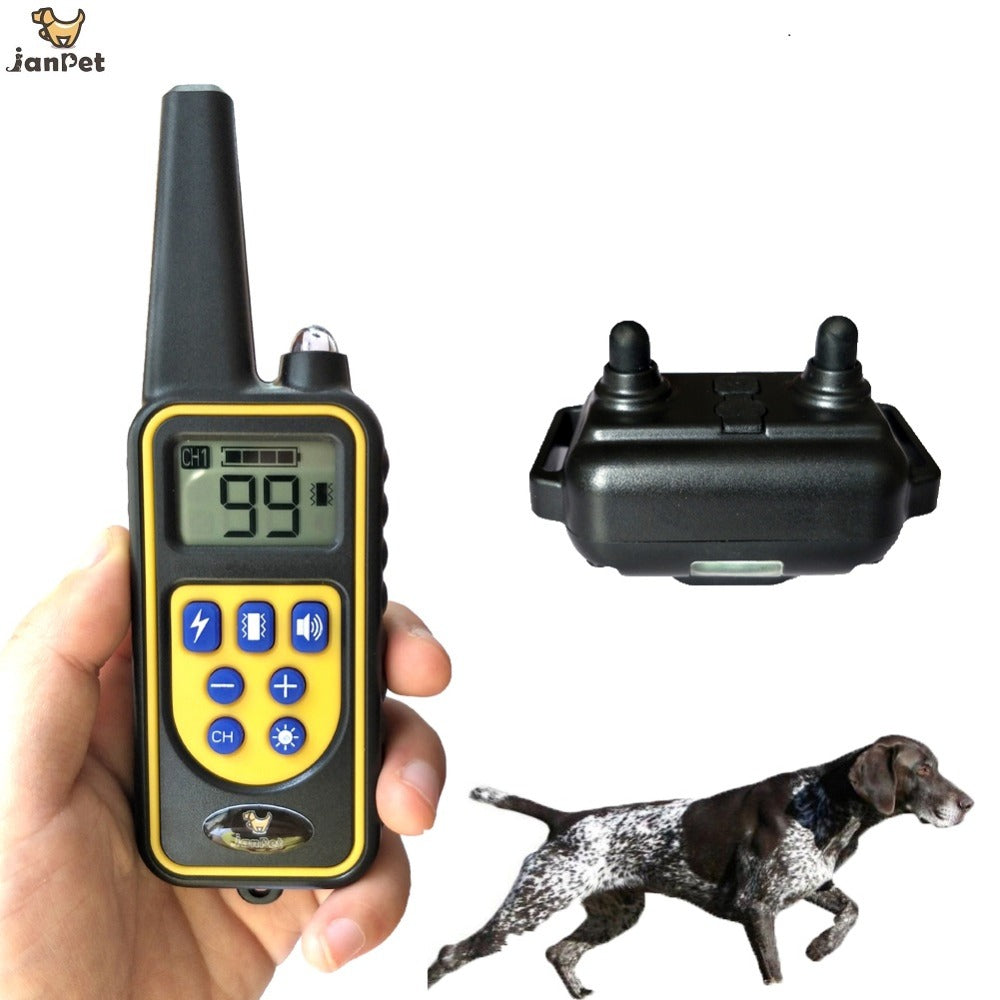 JANPET Electronic Dog Shock Collar Range 800M Remote Dog Training Collars with Vibration/Shock/Sound/Light