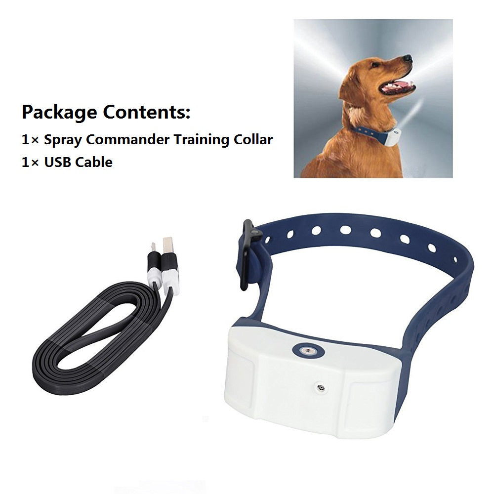JANPET Rechargeable Anti-Bark Spray Dog Training Collar NO Bark Spray Collars without Citronella Refill