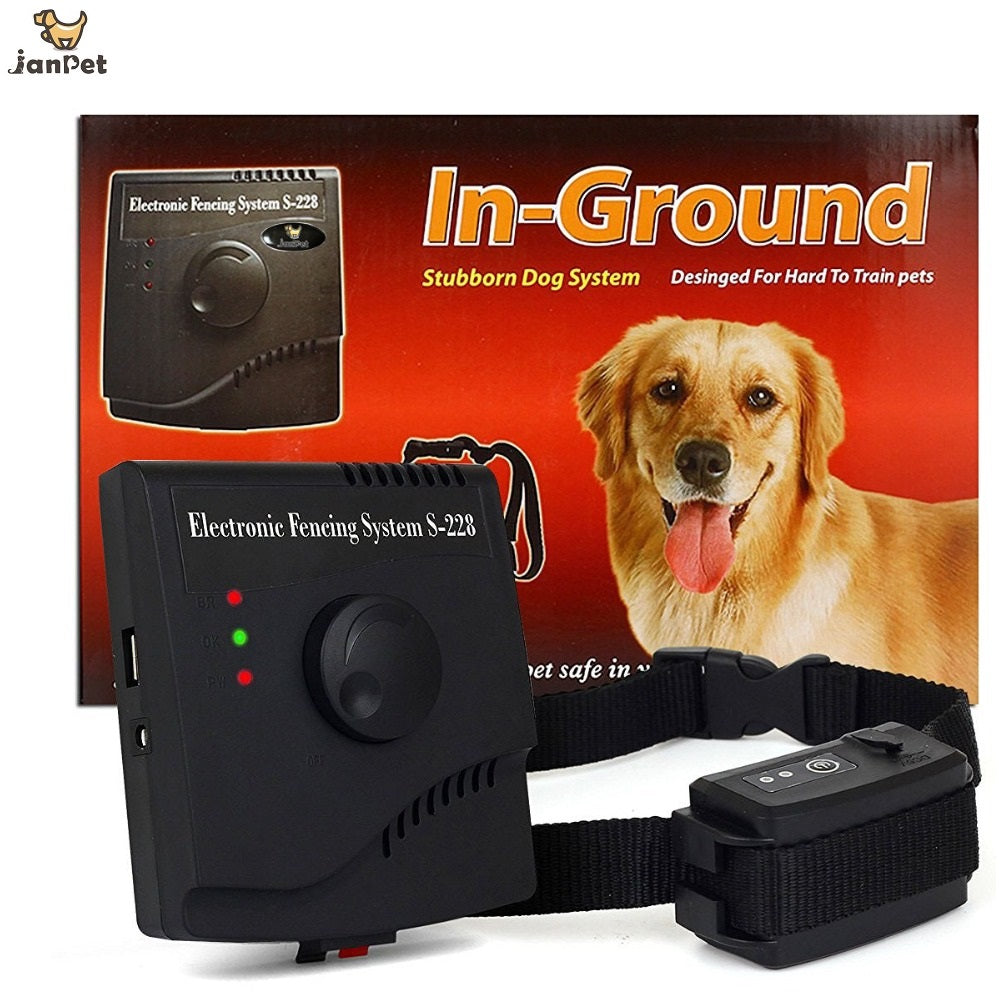 JANPET Rechargeable Waterproof Invisible Wireless Electric Dog Fences Pet Dog Training System JPS228