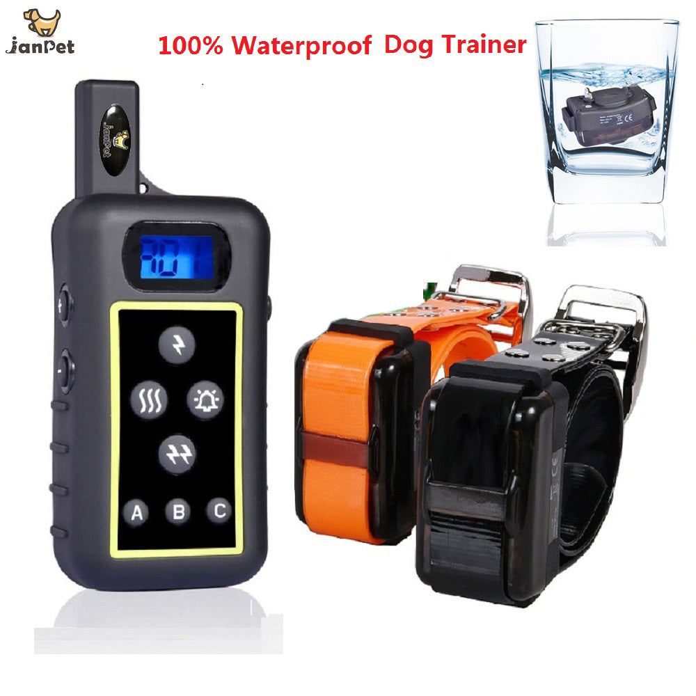 JANPET Remote Shock Training Collar 100% Waterproof and Recharageble for 2 Dogs Electric Collar/ 2 Years Warranty