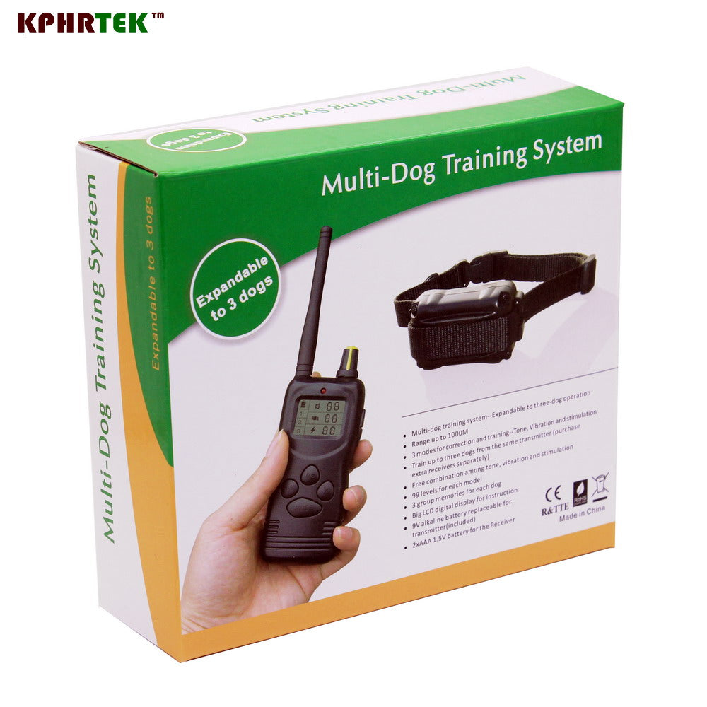 LCD REMOTE 100 levels dog TRAINING COLLAR 1000m