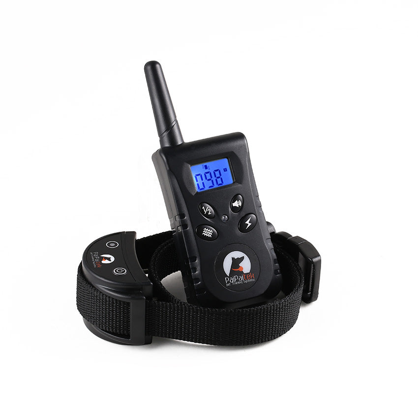 New 500M Remote Rechargeable Waterpoof Blue Screen Pet Dog Training Collar Pet No Bark Collar Bark Stop Collar Electric Collars