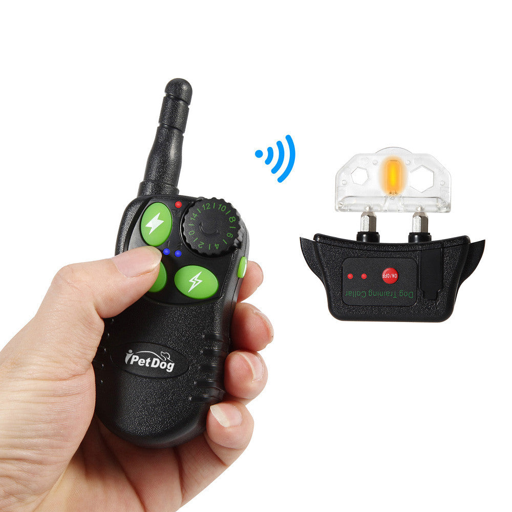 New 550M Electronic Remote Control Dog Training Collar Ultrasonic Dog Repeller with Green Button Anti Bark Whistle Shock Colla