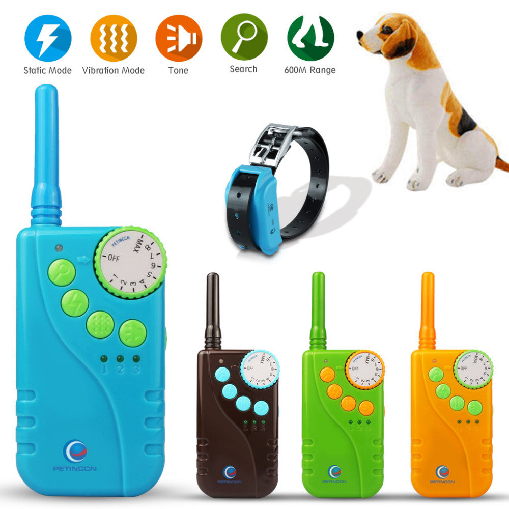 New 600M Dog Training Collar 600M Waterproof Rechargeable LCD Remote Control Electronic Electric Vibration Shock Beeper Collar