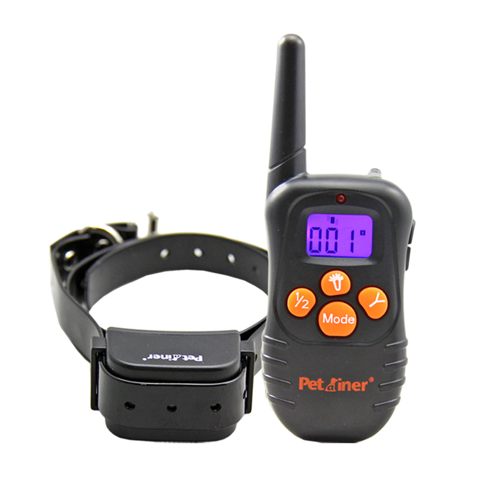 New Hot Petainer Big LCD Display 300m Vibration Beep Only Dog Remote Training Collar Shock free Dog Trainer