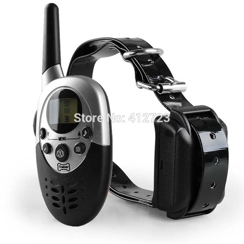New Multi-function Dog Trainer 1000M Waterproof Rechargeable LCD Remote Pet Dog Training Collar Electric Shock Large Dog Control