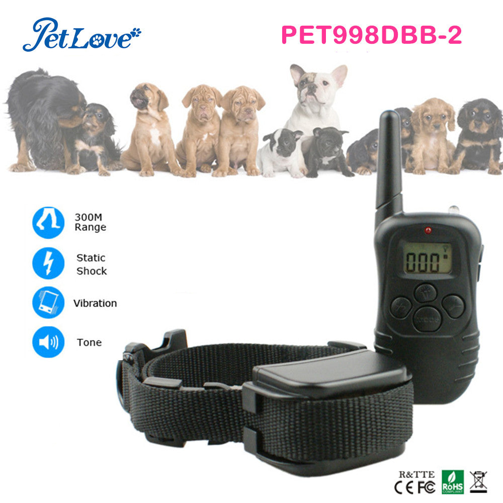 Nylon dog collar reflective dog collar remote 30M pet training collar for dog rechargeable and waterproof
