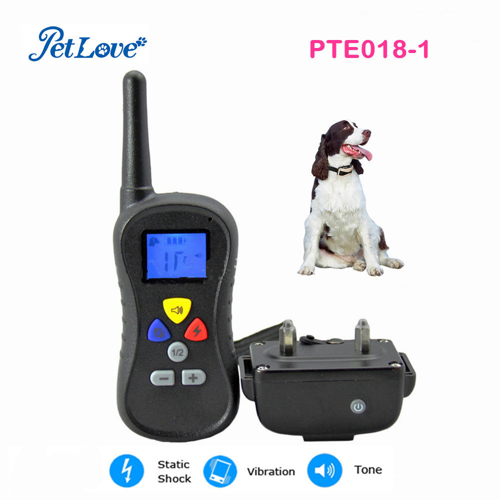 Nylon dog collar reflective dog collar remote 400 yards Static Shock, Vibration and Beeper dog training collar