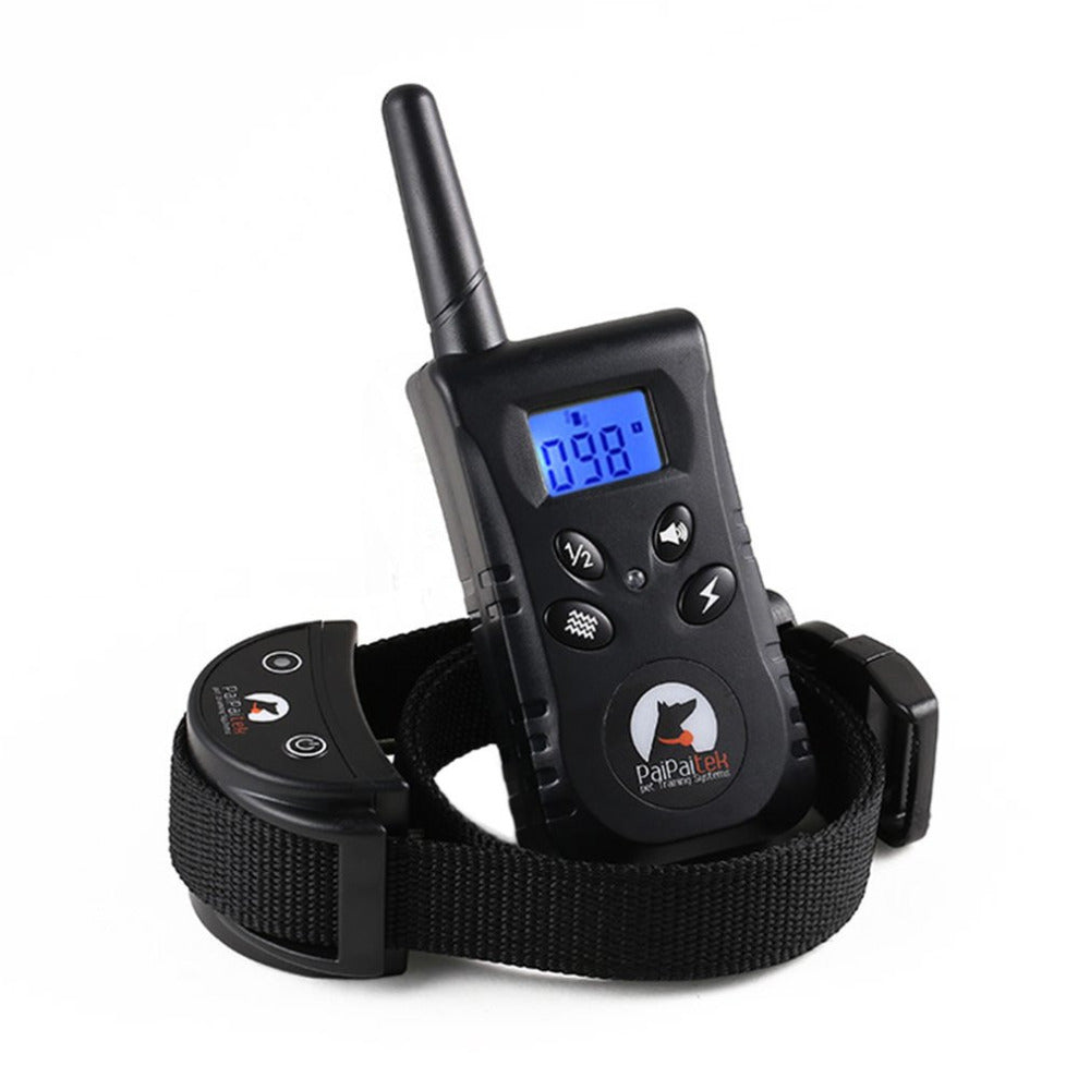 PaiPaitek Pet Dog Training Collar Electric Shock+Vibration+Light+Voice 500m RC Dog Training Device Pet Dog Trainer Supply