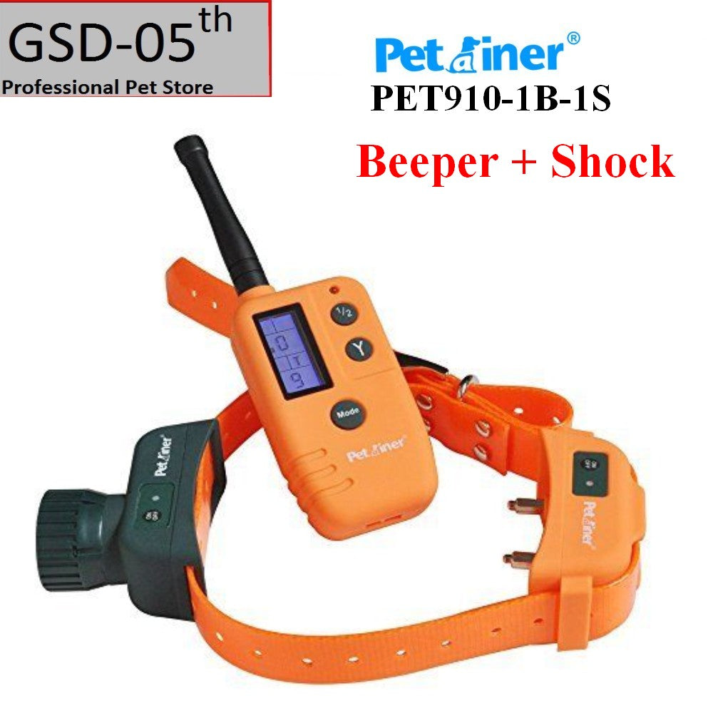 Pet Dog Hunter Beeper Shock Collar 500M Range Remote With Big LCD Display Dog Shock Beeper Training Collar Location 910-1B-1S