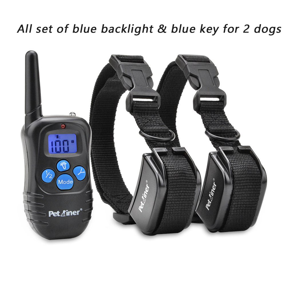 Pet Dog Training Collar 300M Electric Shock Vibra Remote Control Anti Bark Eelctric Shock Petrainer E998DRB-2