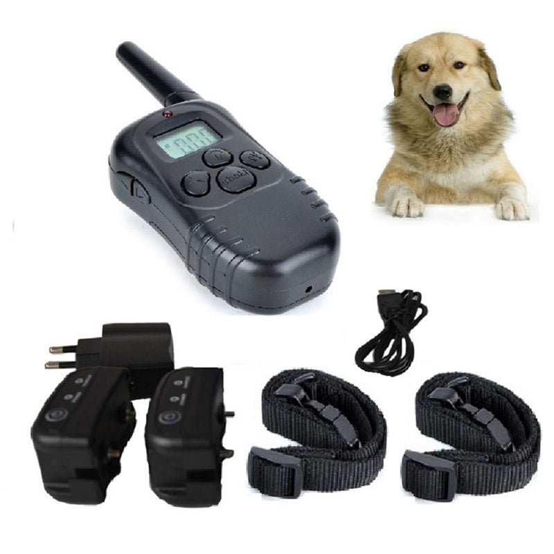 Pet Products Dog Training Electric Shock Collars waterproof Collar 300M 100 LV Remote Vibration Rechargeable 198-2 For 2 Dogs