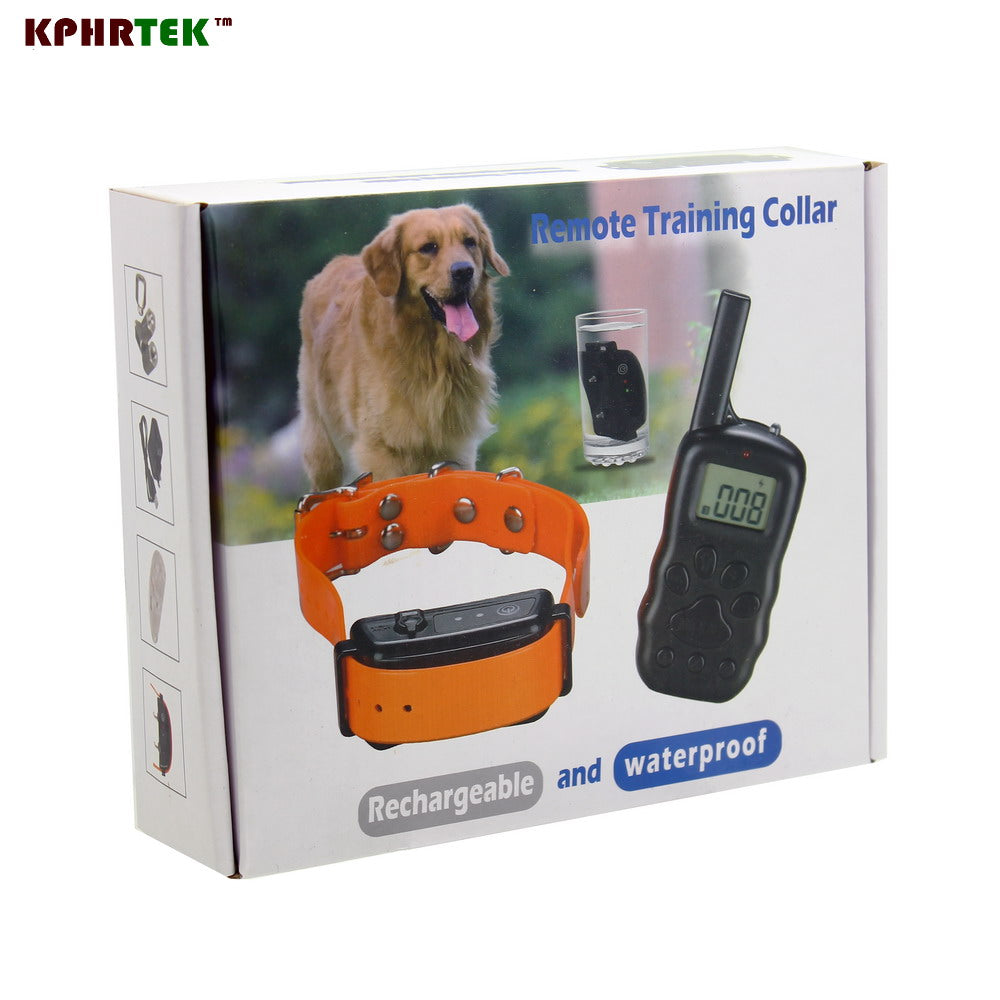 Pet Training Collar Rechargeable And Waterproof Vibration ok for dog Diving Swim Anti Bark Collar For 1 Dog 600B