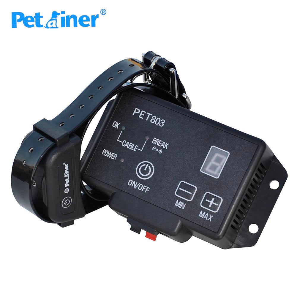 Petrainer 803-1 New Waterproof Underground Electric Shock Dog Training Collar Fence Fencing System Dogs