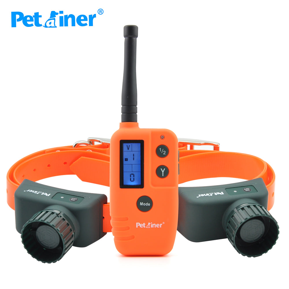 Petrainer 910B-2 dog training collar rechargeable waterproof collar pet dog remote 500 for hunting For 2 Dogs