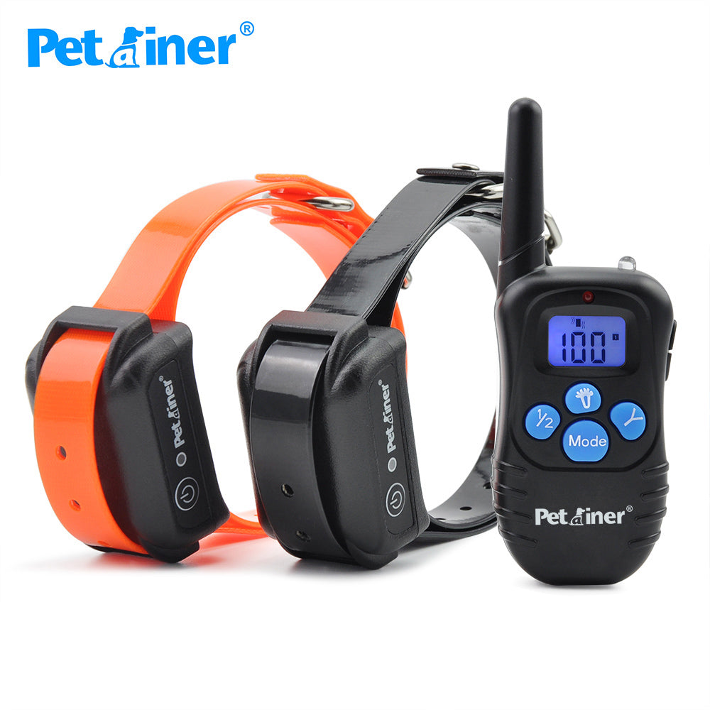 Petrainer 998DBB-2 Blue Black Light Agility Equipment Dogs Training Product Operation Button Stop Dog Barking For 2 Dogs