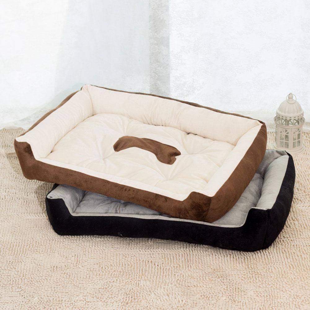 plus size bone pattern large dog bed mat kennel soft pet