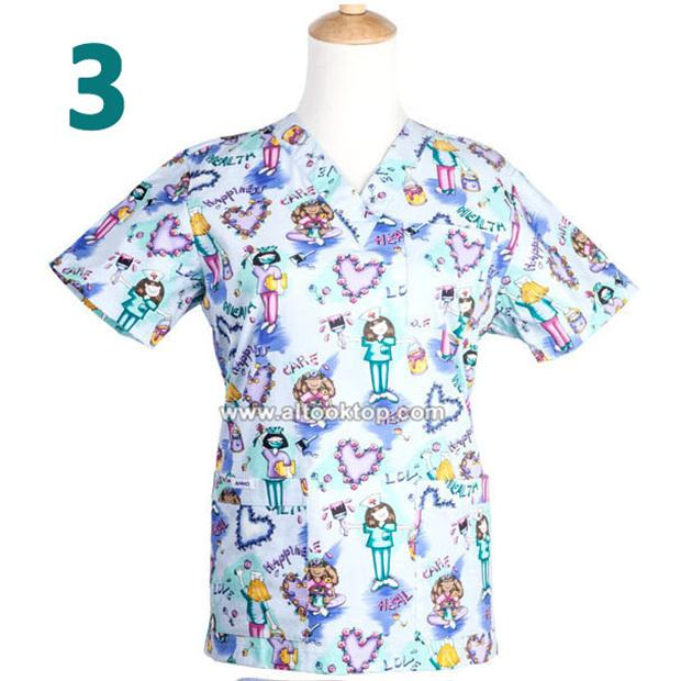 Plus size pet hospital clinic doctor scrubs tops doggie for Medical pet shirt dog