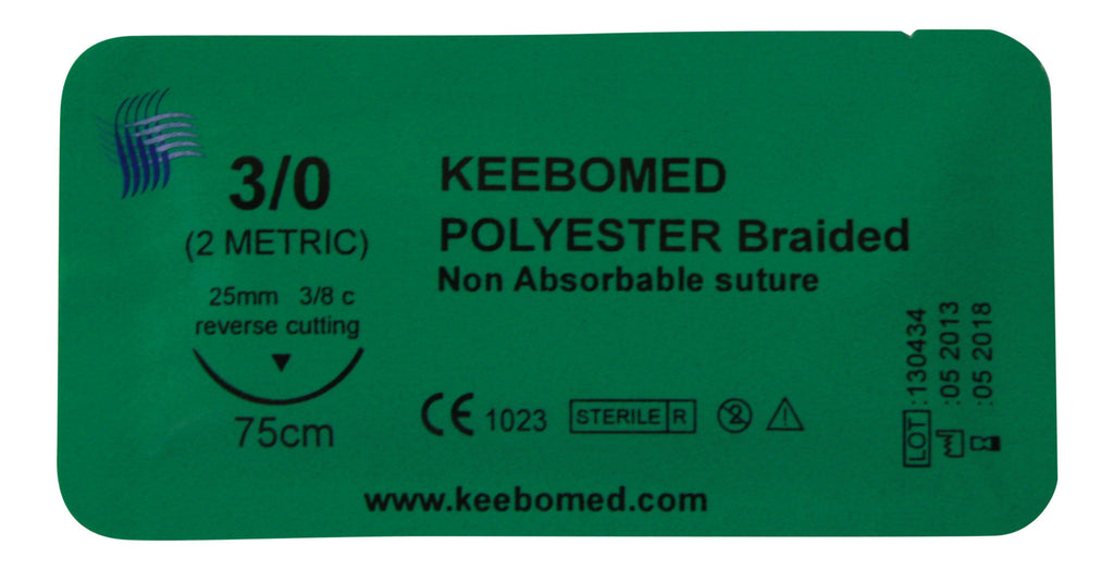Sutures Polyester Braided--Keebomed